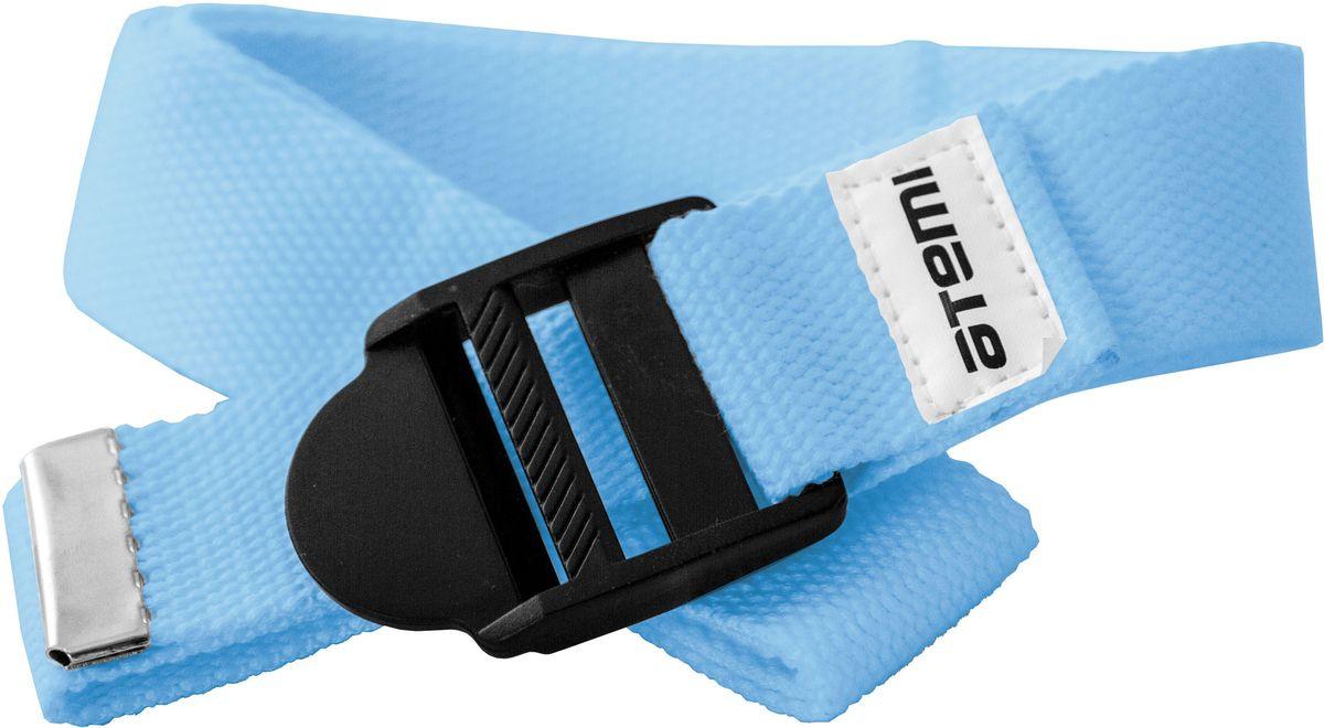 Ремешок для йоги Atemi, цвет: синийMCI54145_WhiteРекомендуется как помощник при выполнении более сложных упражнений, требующих максимальной гибкости и сноровки. При использовании ремешка быстрее, постепенно и безболезненно достигается гибкость. Длинна 180 см. Ширина 3,5 см