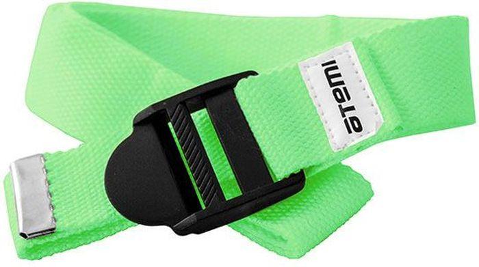Ремешок для йоги Atemi, цвет: зеленыйSF 0205Рекомендуется как помощник при выполнении более сложных упражнений, требующих максимальной гибкости и сноровки. При использовании ремешка быстрее, постепенно и безболезненно достигается гибкость. Длинна 180 см. Ширина 3,5 см