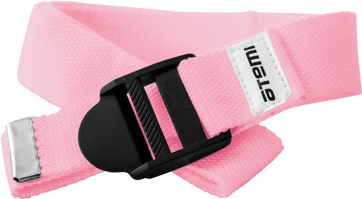 Ремешок для йоги Atemi, цвет: розовыйMCI54145_WhiteРекомендуется как помощник при выполнении более сложных упражнений, требующих максимальной гибкости и сноровки. При использовании ремешка быстрее, постепенно и безболезненно достигается гибкость. Длинна 180 см. Ширина 3,5 см