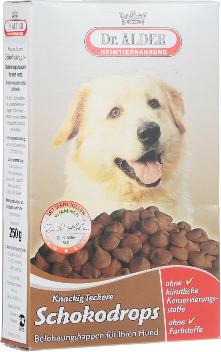 Лакомство для собак Dr. Alders Schokodrops, 250 г1969Dr. Alders Schokodrops - это изысканное молочное лакомство с шоколадом для собак. Вкусная награда для вашей собаки, содержащая полноценные витамины и лецитин для повышения жизненной активности и улучшения физического состояния питомца.Товар сертифицирован.