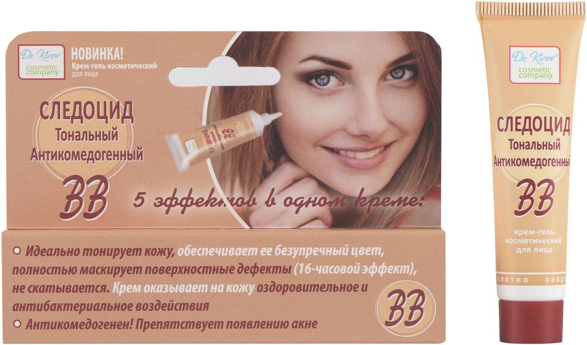"""Dr.Kirov Cosmetic Крем-гель """"Следоцид матирующий антикомедогенный ВВ"""", 15 мл"""
