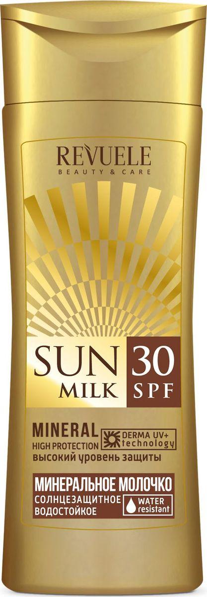 Revuele Sun Care Минеральное молочко солнцезащитное SPF 30, 150 мл1935Молочко эффективно защищает от негативного воздействия солнечных лучей, питает, делает кожу мягкой и бархатистой, обеспечивая ровный загар.