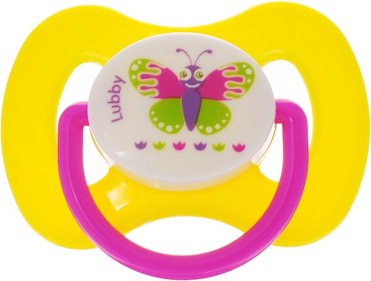 Lubby Пустышка силиконовая Бабочка от 6 месяцев