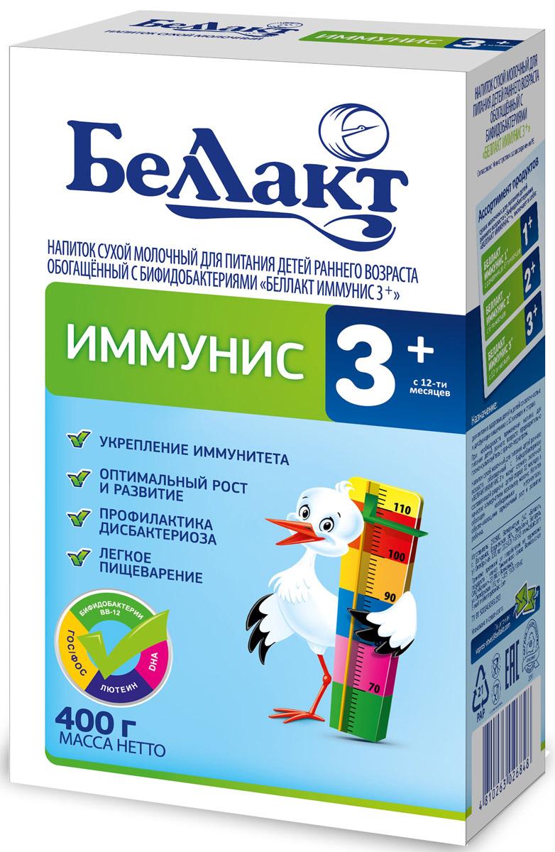 Беллакт Иммунис 3 + смесь молочная сухая с 12 месяцев, 400 г2684Смесь для смешанного или искусственного вскармливания здоровых детей с нарушенным биоценозом кишечника при недостатке или отсутствии женского молока.