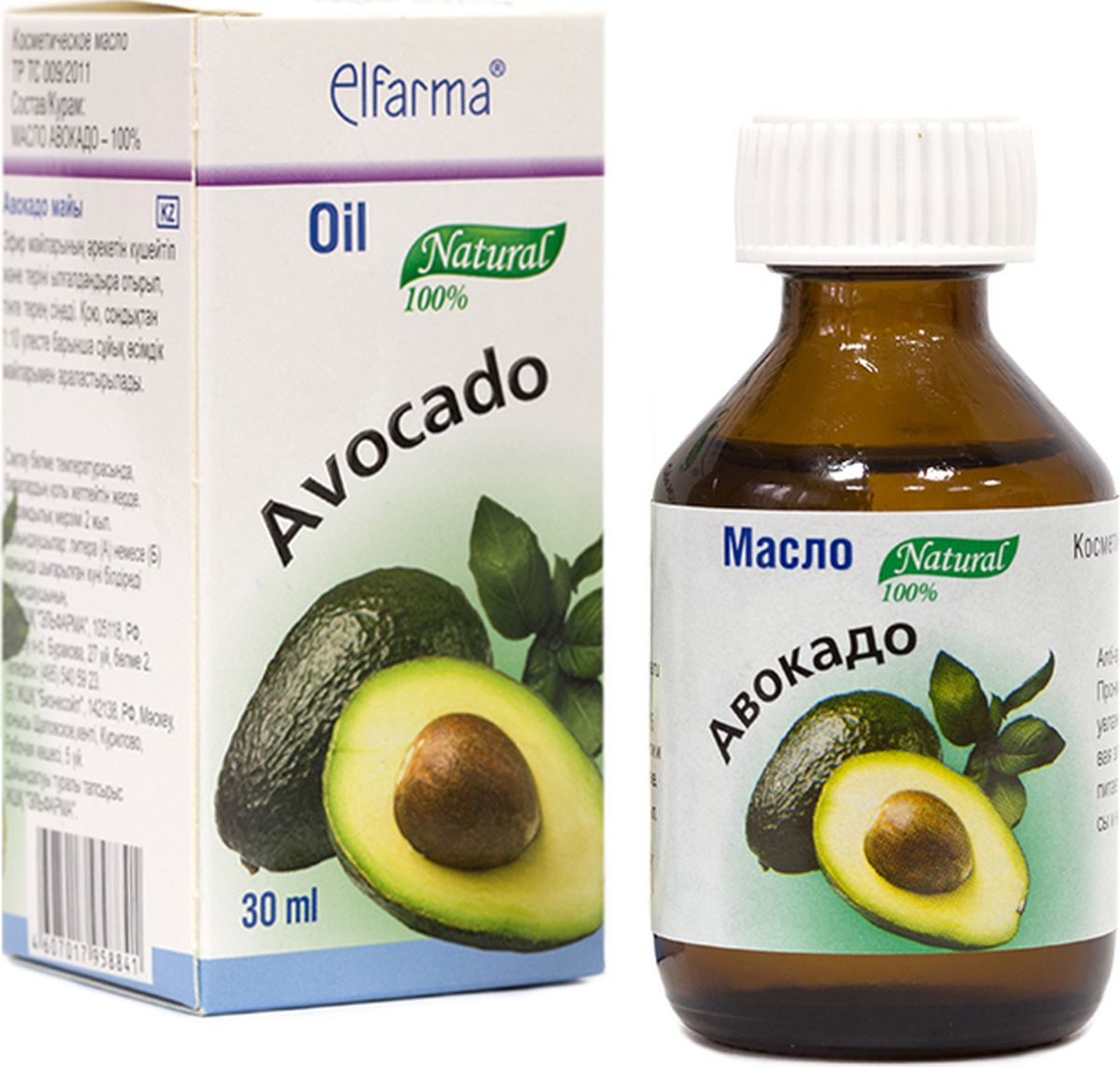 Elfarma Масло Авокадо, 30 мл00000001065Проникает глубоко в ткани, усиливая действие эфирных масел и увлажняет кожу.