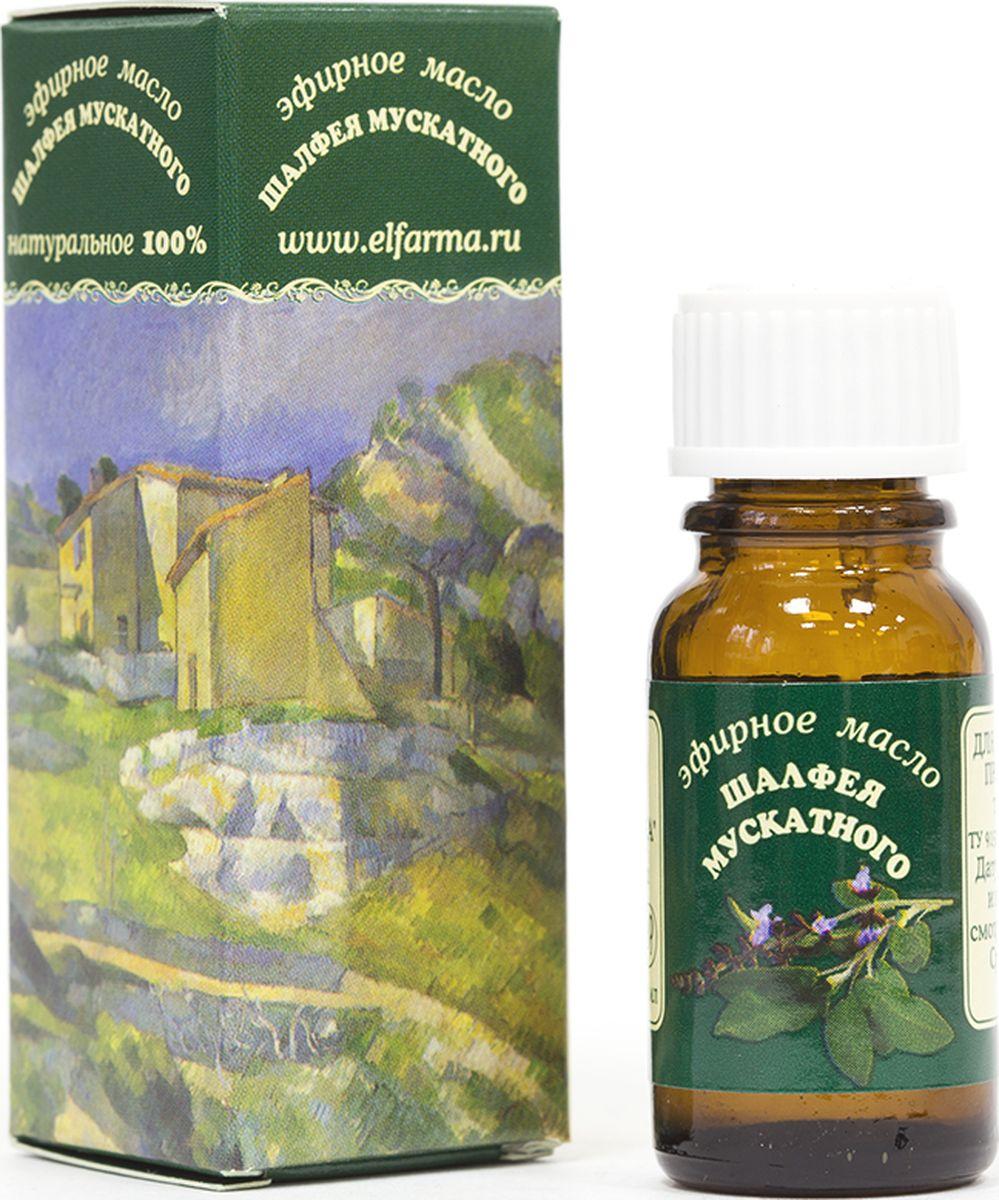 Elfarma Эфирное масло Мускатного Шалфея, 10 млAPS-4L-01Гиппократ рекомендовал продукт для улучшения работы органов чувств и печени.