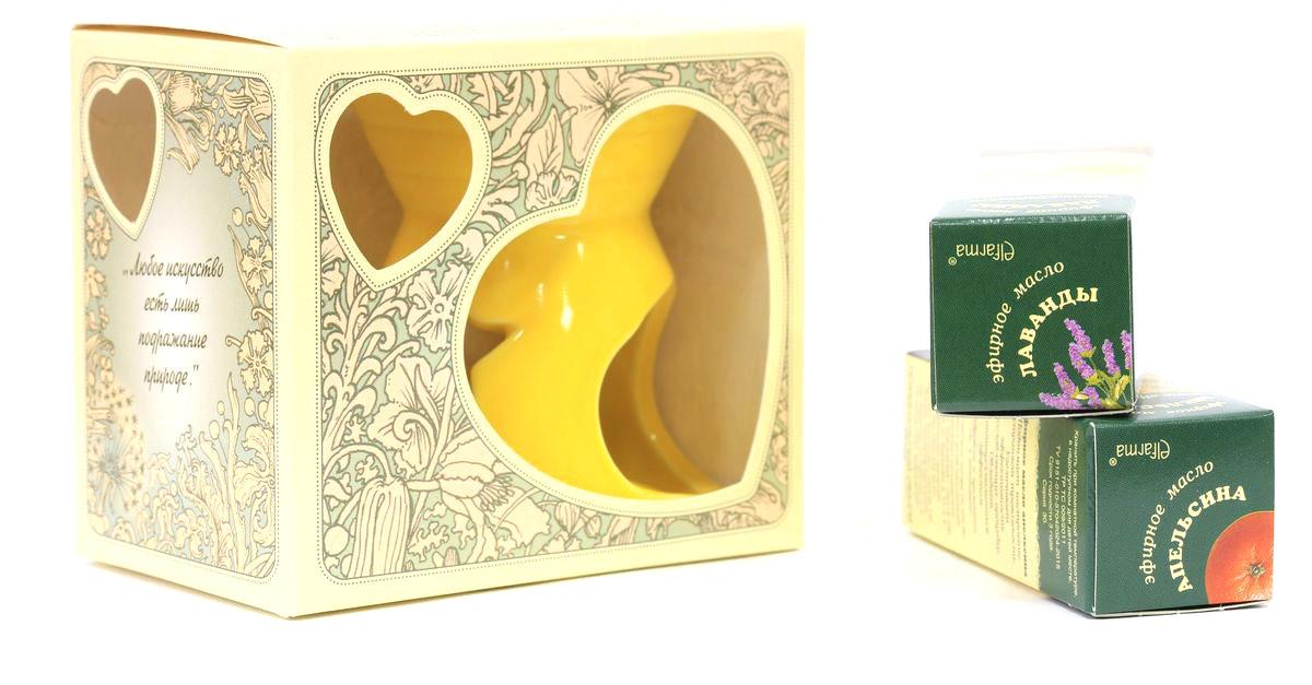 Elfarma Набор эфирных масел Подарочный1332219ЕАромалампа+Масло Апельсина, Лаванды