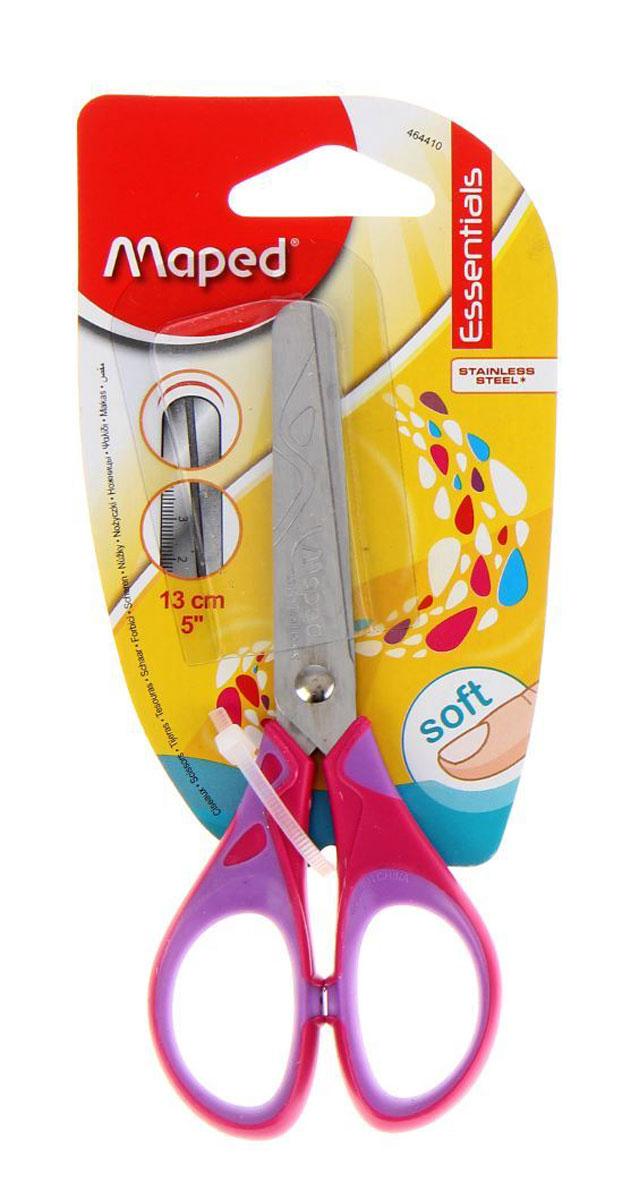 Maped Ножницы Essentials Soft цвет сиреневый фуксия 13 смFS-54100Ножницы - это предмет, которым мы пользуемся едва ли не ежедневно. Но, к сожалению, эта вещь часто ломается, особенно в руках ребенка, или теряется в самый нужный момент.Симметричные ножницы Maped Essentials Soft с прорезиненными ручками станут прекрасным помощником для ваших детей! Изделие выполнено в ярком цвете - ваш затейник будет очень доволен! Область применения таких ножниц достаточно широка: их можно использовать дома и в школе для разрезания любых видов бумаги и картона.