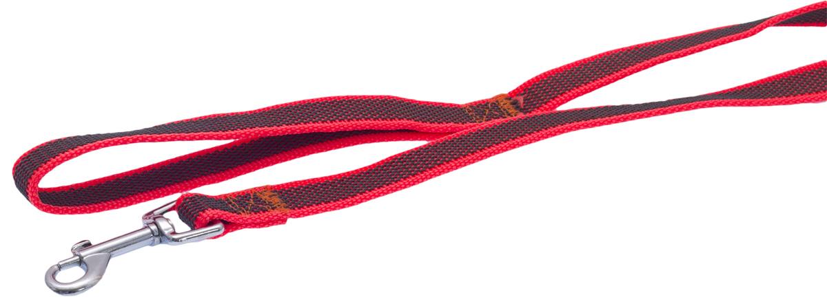 Поводок для собак Каскад, цвет: оранжевый, ширина 2 см, длина 3 м19020003-03