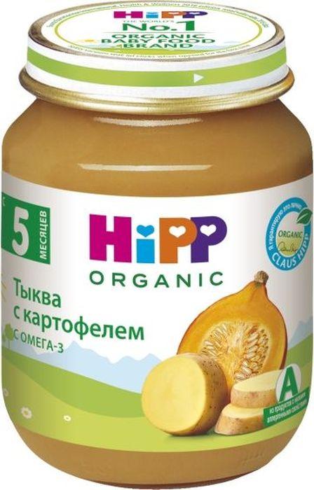 Hipp пюре тыква с картофелем, с 5 месяцев, 125 г9062300100577Пюре Hipp Тыква с картофелем. Польза тыквы определяется наличием в ней массы ценных микроэлементов, таких как железо и каротин, соли калия, магния и фосфора. Все эти микроэлементы незаменимы для детей, так как укрепляют иммунитет, помогают бороться с воспалительными процессами и положительно влияют на нервную систему. В тыкве содержатся витамины А, В, Е. Они помогают малышу расти и отвечают за здоровый сон, состояние кожи и глаз. Редкие витамины К и Т помогают обменным процессам протекать лучше, а вредным веществам быстрее выводиться из детского организма. В тыкве присутствуют соли меди, железа, фосфора, благоприятно действующие на кроветворение. Поэтому блюда из тыквы рекомендуются для предупреждения малокровия. Картофель содержит витамины В1, В2, В6 и С, калий, магний и железо. Он богат углеводами, а растущий ребенок нуждается в их большом количестве, как основном поставщике энергии. Белок картофеля очень хорошо усваивается организмом. Магний необходим для формирования костной ткани, нормализует возбудимость нервной системы, оказывает влияние на активность ряда ферментов, благотворно воздействует на работу детского желудка и кишечника.
