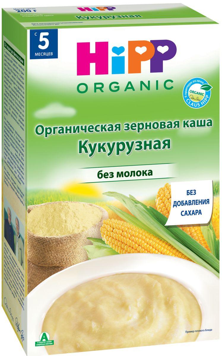 Hipp каша зерновая кукурузная, с 5 месяцев, 200 гP062088Каша Hipp органическая зерновая кукурузная - сухая быстрорастворимая безмолочная каша с фруктовыми добавками. Кукуруза легко усваивается, обладает высокой питательной ценностью и не содержит глютена. Она поможет нормальной работе и очищению кишечника. Низкоаллергенная кукурузная каша обогащена витамином В1, это делает кашу Hipp такой полезной и вкусной! Рекомендуется для детей старше 5 месяцев.