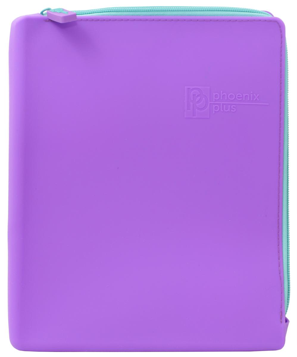 Феникс+ Папка для тетрадей цвет фиолетовыйAM4516Папка для тетрадей на молнии с двух сторон.Формат: А5+. Размер: 20х24 см.Материал: силикон.Цвет: фиолетовый.