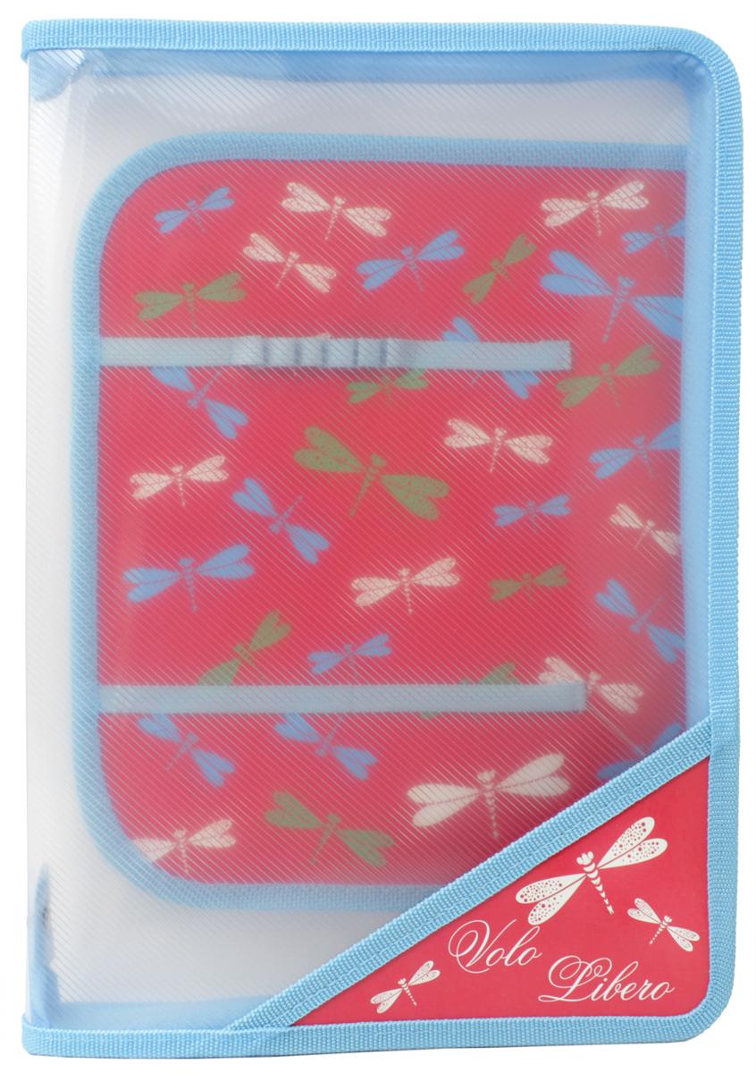 Феникс+ Папка для уроков труда Цветные Стрекозы43623Папка для уроков труда на молнии.Формат: А4.Размер: 33х23,3 см.Материал: пластик. Внутренний блок для канцелярских принадлежностей.