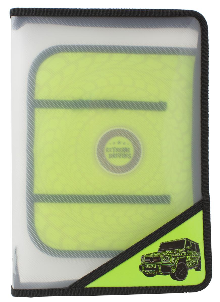 Феникс+ Папка для уроков труда Джип на зеленом43626Папка для уроков труда на молнии.Формат: А4.Размер: 33х23,3 см.Материал: пластик. Внутренний блок для канцелярских принадлежностей.