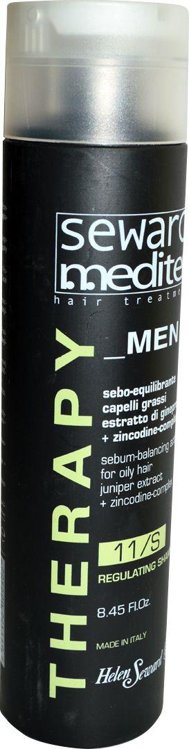 Helen Seward Regulating Shampoo 11/S Cеборегулирующий мужской шампунь, 250 мл1101Деликатное и эффективное очищение кожи головы и волос достигается за счет сбалансированной формулы мужского шампуня для жирных волос, действие которого направлено на регуляцию работы сальных желез и интенсивное увлажнение. Благодаря мягкой текстуре шампунь бережно очищает, снимает раздражение кожи и зуд, подготавливает волосы к дальнейшим процедурам. Активные компоненты стимулируют рост волос, обеспечивают anti-age эффект.