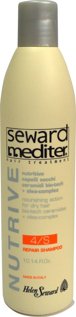 Helen Seward 4/S Nutrive Repair Shampoo Восстанавливающий шампунь для поврежденных волос, 300 мл0118Катионовый шампунь с Hi-Tech микросферами, деликатное глубокое очищение кожи и волос, сохраняет цвет окрашенных волос, контролирует воздействие высокотехнологичных керамидов, дисциплинирует волосы.