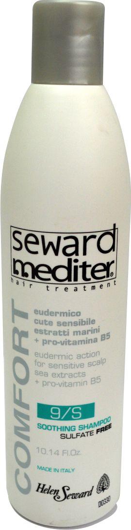 Helen Seward Soothing Shampoo 9/S Шампунь без сульфатов для чувствительной кожи головы, 300 мл0108Шампунь для чувствительной кожи головы Helen Seward содержит только натуральные компоненты и отличается приятным запахом. Сбалансированная формула средства призвана оказывать увлажняющее действие, сохраняя естественный уровень влаги, нейтрализует токсины, а также устраняет повреждения, которые были вызваны окрашиванием либо агрессивным воздействием внешних факторов. Мягкая текстура шампуня из линии средств Mediter бережно очищает, успокаивает и снимает покраснение, раздражение кожи головы, питает волос.