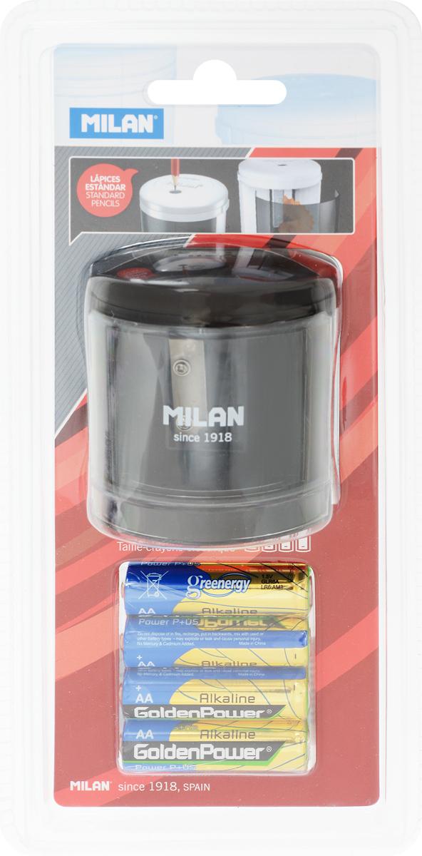 Milan Точилка электрическая Power Sharp цвет черный0703415Электрическая точилка Milan Power Sharp отличается лаконичным стилем и сделана по новейшим технологиям с учетом последних тенденций в области дизайна в экспериментальной лаборатории MILAN. Конструкция лезвия точилки абсолютно безопасна, в создании точилок использованы только качественные материалы. Модель Powersharp идеальна для школы и офиса.Модель работает на батарейке 1,5 V типа АА. (входят в комплект)