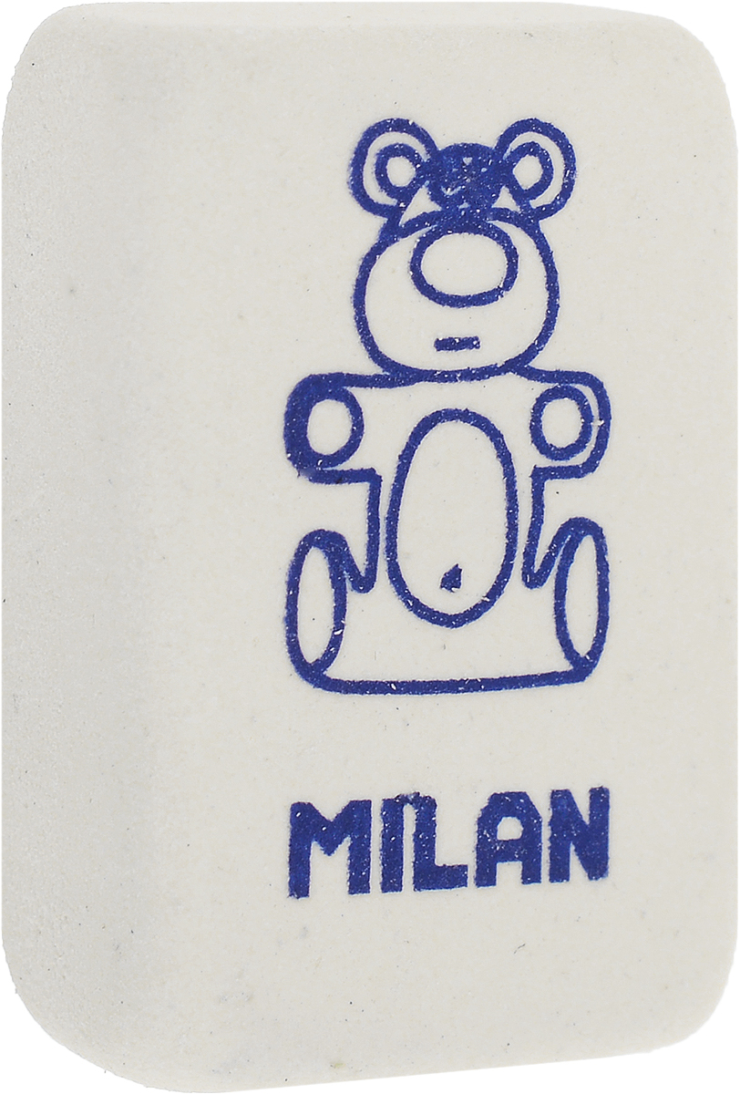 Milan Ластик 4060 цвет белыйCNM4060_белыйЛастик Milan 4060 из натурального каучука с добавлением абразивных веществ. Подходит для работы с твердыми грифелями. Ластик имеет мягкие формы с изображением забавного персонажа.