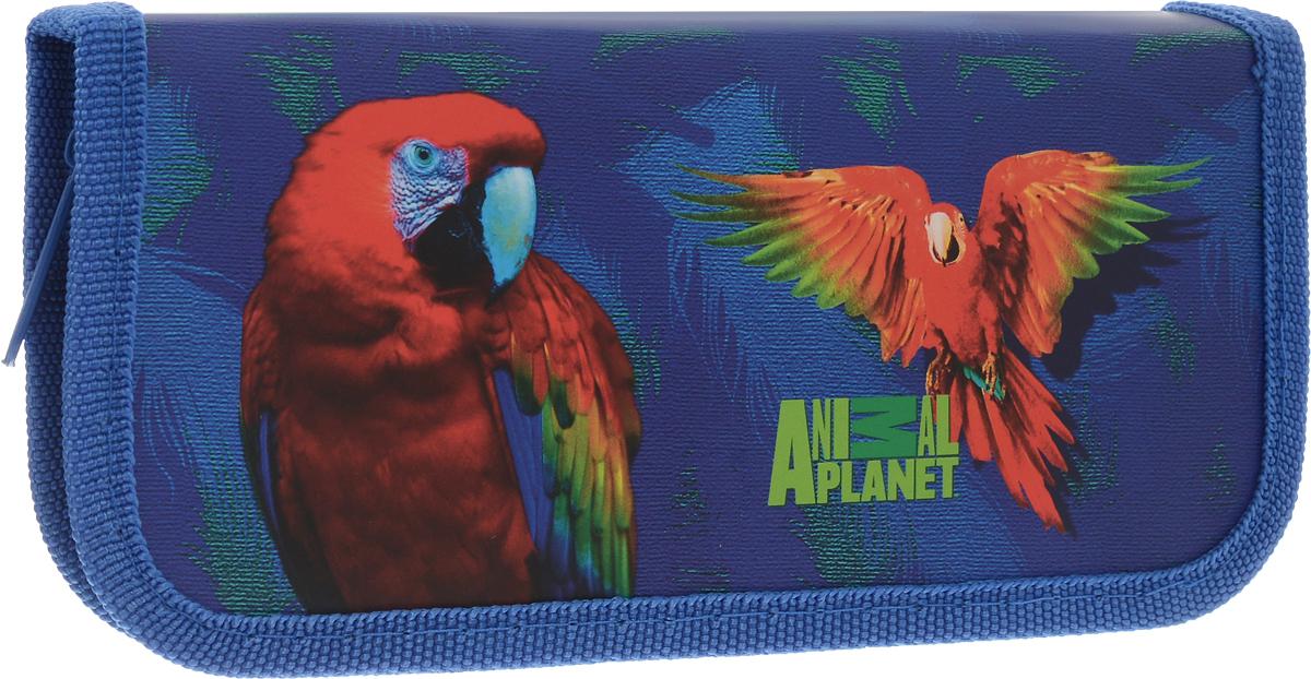 Action! Пенал Animal Planet Попугай цвет синий