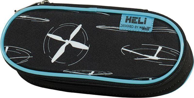 Thorka Пенал овальный MC Neill Вертолет91551750002 отделения с гнездами для ручек, карандашей и мелочей 22 х 5 х 9 см