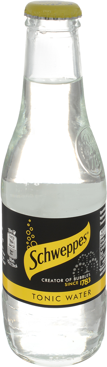 Schweppes Indian Tonic напиток газированный, 0,2 л42099468Шипучий напиток с освежающим ароматом и богатым, одновременно сладковатым, горьким и кислым вкусом. Его необычный вкус создается благодаря добавлению в его состав хинина.По легенде, знаменитый напиток был изобретен врачами для лечения малярии в Индии и Африке. Его необычный вкус полюбился солдатам, и один предприимчивый бизнесмен стал создавать освежающие напитки для ежедневного употребления на основе хинина. Чтобы скрасить резкий вкус хинина солдаты Британской Ост-Индской компании смешали тоник с джином, и так появился популярный коктейль. Сейчас тоник часто используют для разбавления спиртных напитков, приготовления других коктейлей.