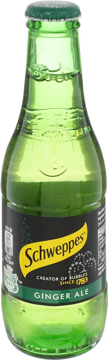 Schweppes Ginger Ale напиток газированный, 0,2 л54491014Напиток из имбиря с добавлением лайма и лимона. Привезен из США, штат Техас. Появился в 1890 году.Как и многие газировки своего времени, Canada Dry был создан молодым фармацевтом из Канады. Напиток получился настолько изысканным, что зачастую поставлялся на королевские дворы.Идеально подходит для изготовления коктейля мохито: как алкогольного, так и безалкогольного!
