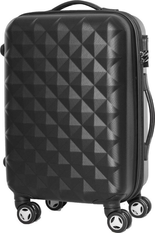 Чемодан Proffi, цвет: черный, 43 х 30 х 67 см, 60 л. PH8368332515-2800Для удобства транспортировки имеется выдвижная ручка, а также боковая ручка. Размер 43х30х67 см, вес: 4,3 кг. Объем чемодана составляет 60 литров.