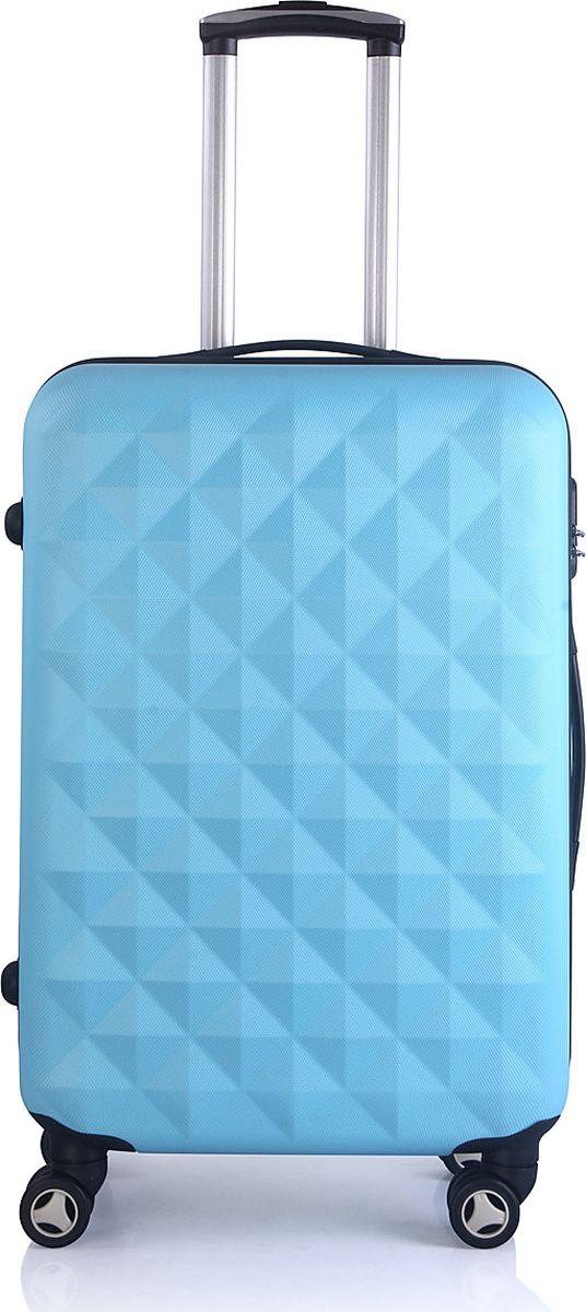 Чемодан Proffi, цвет: голубой, 43 х 30 х 67 см, 60 л. PH8368332515-2800Для удобства транспортировки имеется выдвижная ручка, а также боковая ручка. Размер 43х30х67 см, вес: 4,3 кг. Объем чемодана составляет 60 литров.