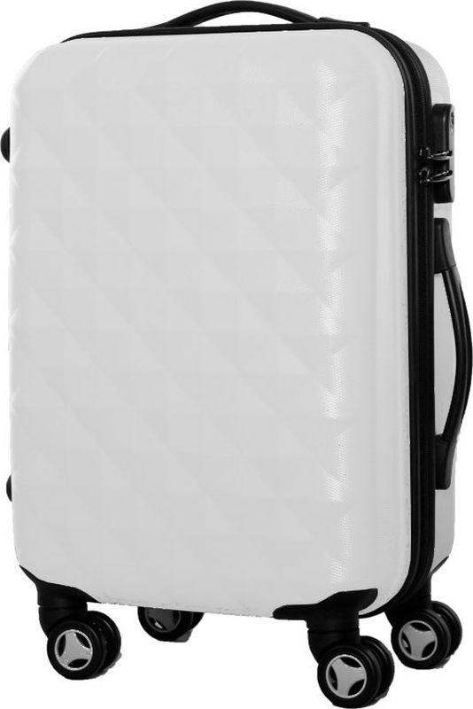 Чемодан Proffi, цвет: белый, 43 х 30 х 67 см, 60 л. PH83685361836490Для удобства транспортировки имеется выдвижная ручка, а также боковая ручка. Размер 43х30х67 см, вес: 4,3 кг. Объем чемодана составляет 60 литров.