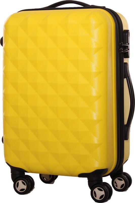 Чемодан Proffi, цвет: желтый, 43 х 30 х 67 см, 60 л. PH8368332515-2800Для удобства транспортировки имеется выдвижная ручка, а также боковая ручка. Размер 43х30х67 см, вес: 4,3 кг. Объем чемодана составляет 60 литров.