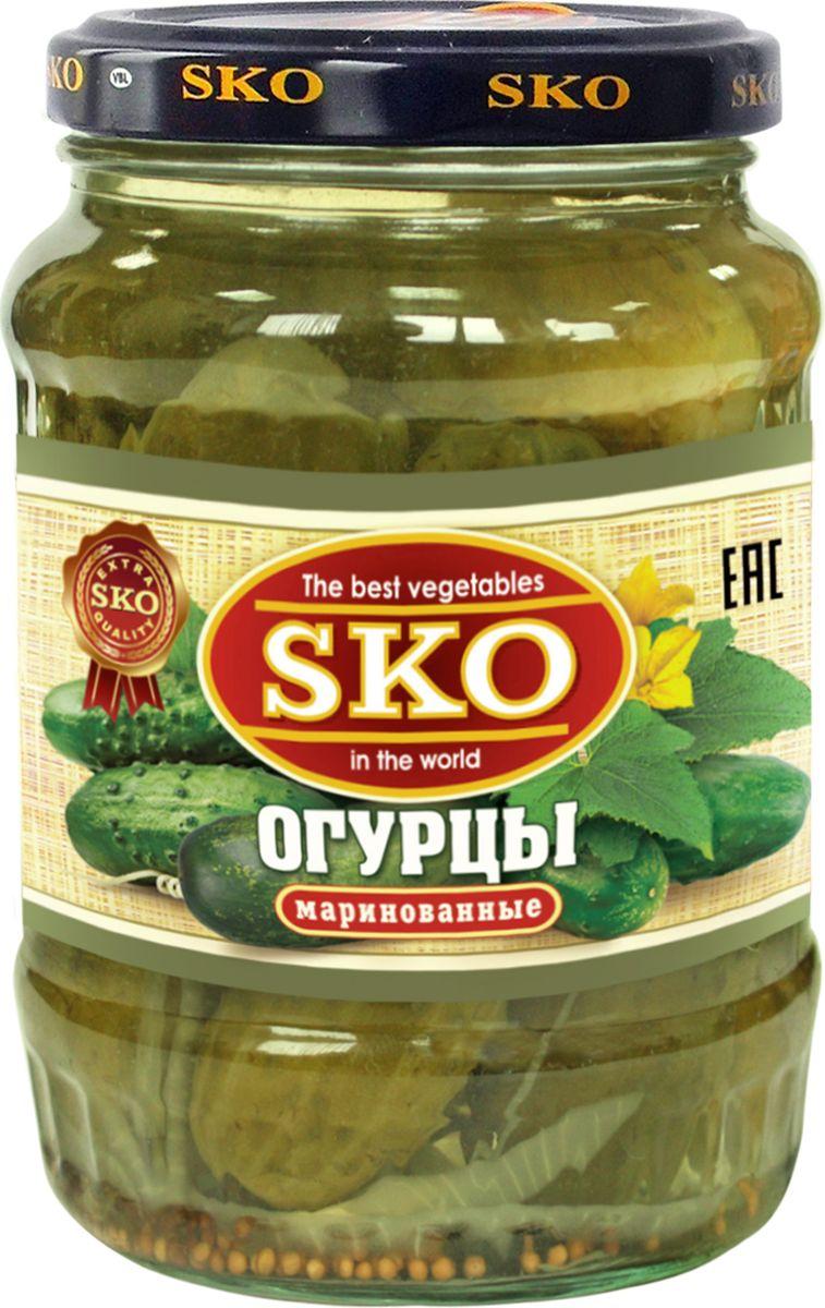 SKO огурцы маринованные 6-9 см, 720 мл10033Наши огурцы изготовлены по традиционным для России рецептам. Плоды хрустящие, вкусные и сочные с добавлением чеснока, укропа, перца чили и сельдерея. Несмотря на то, что в огурцах не так много витаминов, они являются ценным для человека продуктом, поскольку богаты минеральными солями и микроэлементами. Благодаря низкому содержанию калорий, высокому содержанию целлюлозы и разнообразному минеральному составу огурцы послужат ценным продуктом питания людей, склонных к полноте. При выработке рецептуры наших огурцов мы исходили из вкусовых предпочтений наших людей, в результате чего продукт получился вкусным и наиболее полно удовлетворяющим интересам нашего покупателя. Благодаря сбалансированному сочетанию соли, уксуса, специй и приправ, а также четкому соблюдению технологии изготовления, огурцы получились хрустящими, в меру острыми и вкусными. Основным посылом при выработке рецепта было максимально приблизить технологию изготовления к домашней.