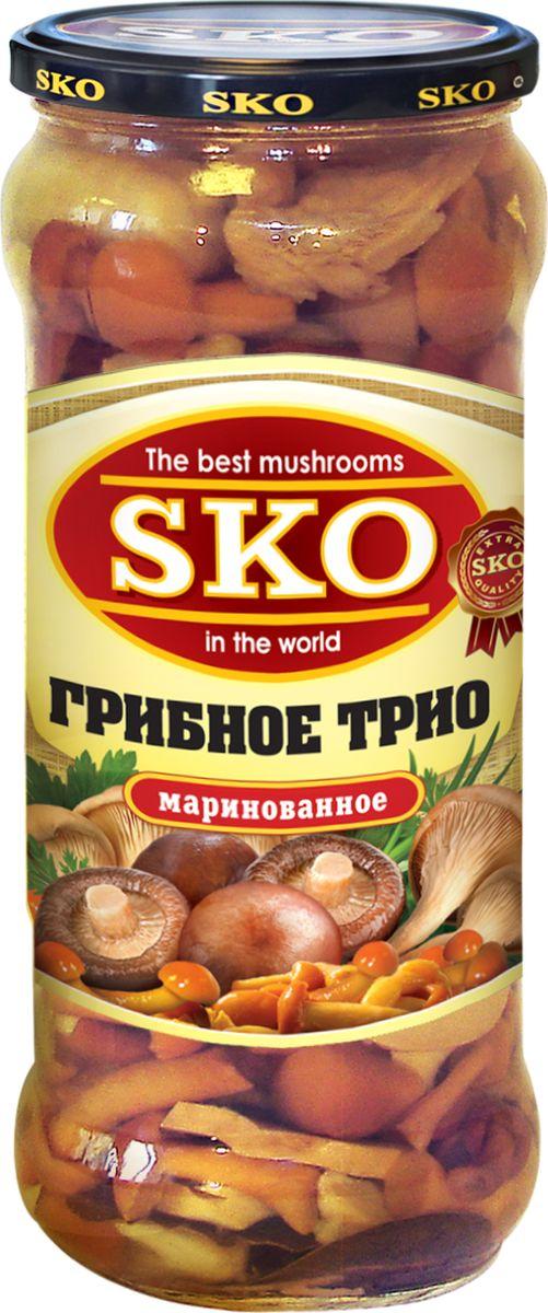 SKO грибное трио ассорти маринованное, 580 мл14002При производстве используются только отборные молодые и свежие грибы, которые готовятся по традиционным российским рецептам с применением современных технологий. Новые технологии обработки позволяют сохранить полезные вещества и вкусовые свойства, которыми обладают грибы. Грибы очень полезны для организма и помогают противостоять многим болезням, инфекциям и вирусам.