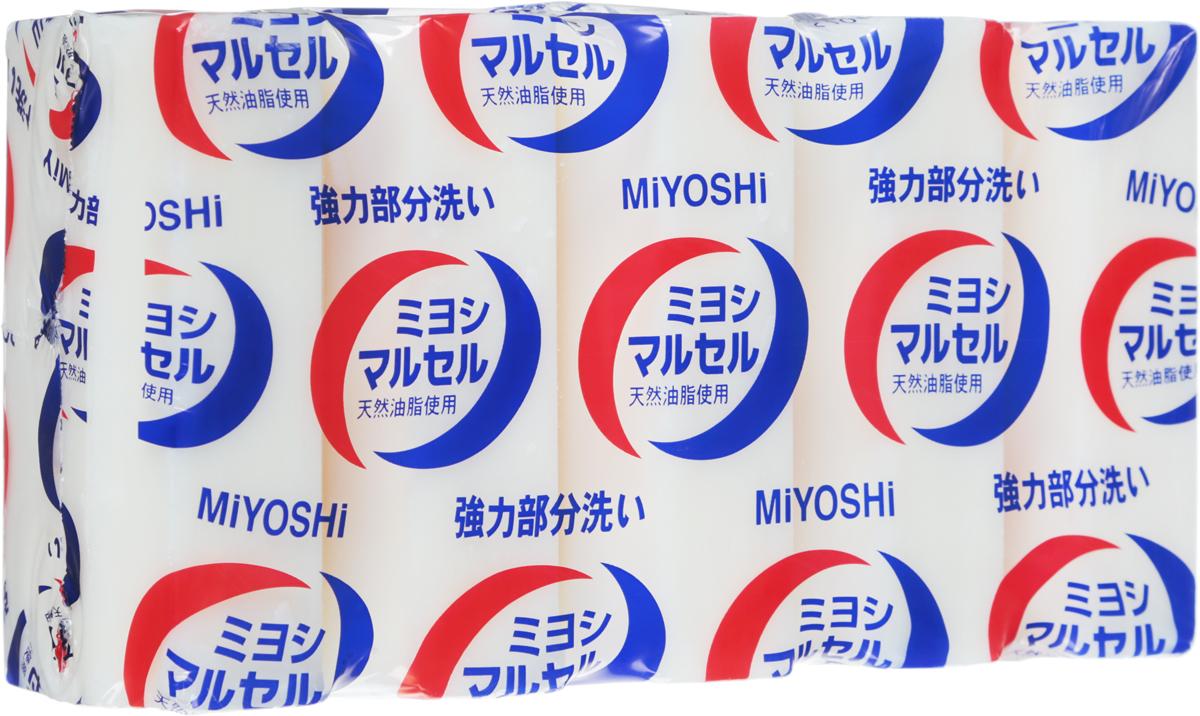 Мыло для стирки Miyoshi Miyosh, для точечного застирывания стойких загрязнений. 210018210018Мыло предназначено специально для точечного застирывания стойких загрязнений. Отличается высокими отстирывающими свойствами, удаляет стойкие запахи, следы желтизны за счет наличия в составе щелочных компонентов (солей кремниевой кислоты), легко справляется с такими загрязнениями, как грязь, жир, машинное масло. Твердое, без красителей, со слабо выраженным ароматом. Меры предосторожности: Используйте строго по назначению. Не для стирки шелка и шерсти. Людям с повышенной чувствительностью кожи, а также при длительном контакте кожи рук с водой рекомендуется использовать резиновые перчатки. Избегайте попадания в глаза мыльного раствора, при попадании немедленно промойте глаза водой. После использования храните мыло в сухом месте. Состав: чистая (без примесей) мыльная основа (натриевая соль с содержанием жирных кислот 78%), щелочные компоненты (силикаты).