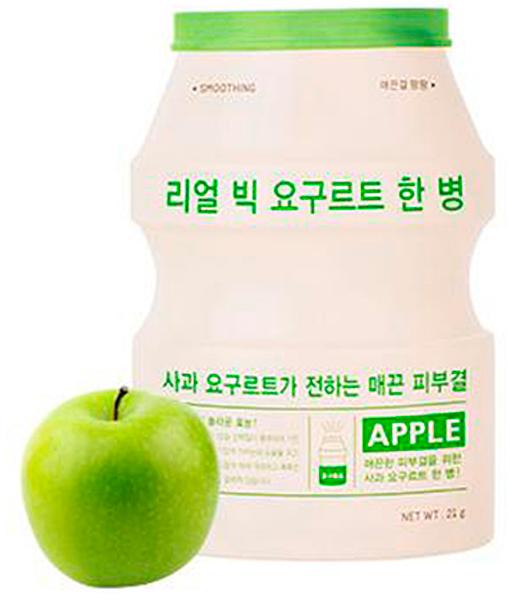 APieu Маска разглаживающая с экстрактом йогурта и яблока, 21 г8809530031858Маска для лица с йогуртом и яблоком. Содержит молочную кислоту и бактерии для восстановления защитного барьера кожи. Экстракт яблока отвечает за гладкость кожи.