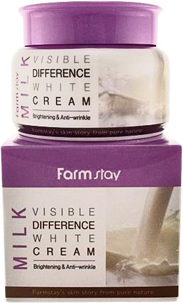 FarmStay Крем для лица увлажняющий с экстрактом молока, 100 г65500409Крем для лица увлажняющий с экстрактом молока ( 100мг) помогает защитить кожу от внешних агрессий окружающей среды, кожа становится более эластичной и сияющей. Аденозин – борется с первыми морщинами, а ниацинамид – отбеливает и делает тон кожи однородным. Экстракты центеллы , корня камелии, розмарина, аллантоин – для того, чтобы смягчить и напитать кожу витаминами. Подходит для всех типов кожи, особенно для сухой.