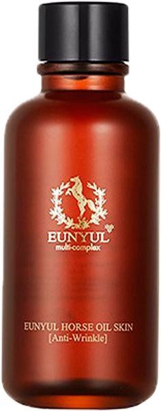 Eunyul Тоник с лошадиным маслом, 125 мл65500080Eunyul Horse Oil Woman Skin – тонер на основе лошадиного масла. Подходит для любого типа, но особенно рекомендуется для сухой, склонной к шелушению и увядающей кожи. Предназначен для использования сразу после умывания, способствует глубокому увлажнению, питанию и восстановлению кожи, оберегает ее от появления шелушений, чувства стянутости и зуда. Состав лошадиного жира близок к человеческому жиру, поэтому он быстро впитывается и хорошо воспринимается кожей и оказывает на нее благоприятное воздействие. Сразу при нанесении тонер увлажняет кожу, устраняет шелушения, питает и смягчает. При регулярном применении улучшает обмен веществ и значительно ускоряет процесс обновления клеток кожи. Оказывает стимулирующее действие на выработку коллагена, благодаря чему кожа становится более упругой и эластичной, разглаживаются морщины, осветляется пигментация.
