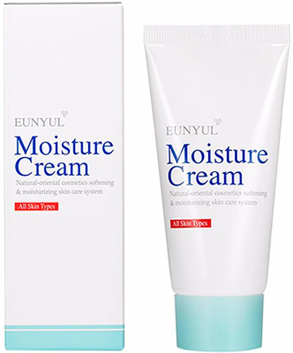 Eunyul Увлажняющий крем, 50мл8809435401893Нежная сливочная текстура, а также натуральные экстракты в составе крема делают это средство необычайно приятным и полезным. Крем подходит для увлажнения любого типа кожи, одинаково поможет как сухой, так и жирной коже, а также прекрасно успокоит чувствительную и склонную к раздражениям кожу. При нанесении крем хорошо распределяется, быстро и глубоко впитывается, доставляя питательные компоненты к каждой клеточке. На поверхности кожи создает защитный барьер, незаметный и неощутимый, который уберегает кожу и от потери влаги изнутри, и от проникновения в нее снаружи различных микроорганизмов. Кроме того, крем защищает от агрессивного влияния внешней среды. Регулярное применение крема сделает кожу нежной, гладкой, напитанной влагой, без шелушений и раздражений.