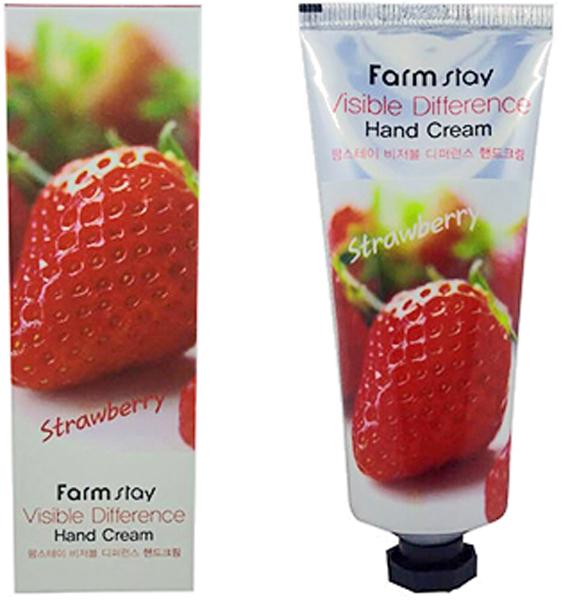 FarmStay Крем для рук с экстрактом клубники, 100 млAC-2233_серыйЭкстракт клубники наполняет кожу необходимыми витаминами, микро и макроэлементами. Интенсивно увлажняет и питает кожу, стимулирует активную регенерацию клеток и внутриклеточные обменные процессы, способствует заживлению воспалений, устраняет покраснения, успокаивает кожу. Кроме того, обладает отбеливающим эффектом и способствует осветлению пигментации.