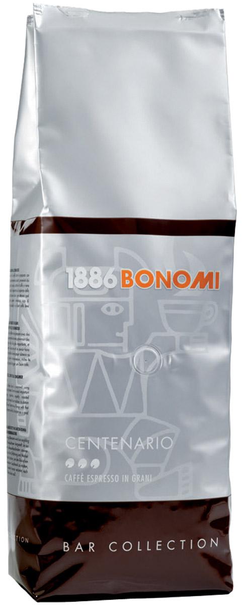 Bonomi Centenario кофе в зернах, 1 кгCBNM00-000001Кофе Бономи Чентенарио - кофе средней обжарки. Юбилейный купаж в честь 100-летия дома Bonomi. Интенсивные ноты свежей выпечки, лесного ореха и горького шоколада. Напиток крепкий и плотный с устойчивой крема. Смесь Bonomi Centenario наиболее подходит для любителей крепкого кофе, кофе большого объема, напитков с молоком и/или молочной пеной. 70% Арабика, 30% Робуста.