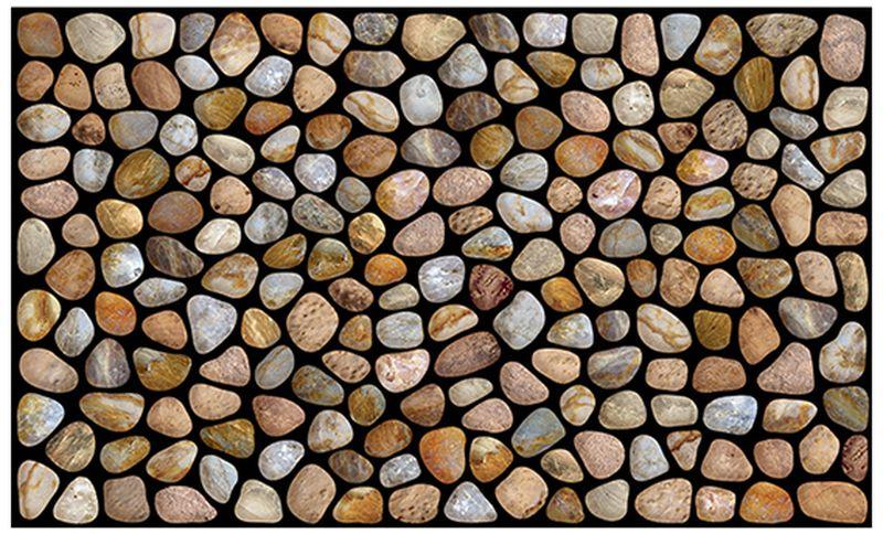Коврик придверный Apache Mills Pebble Beach, 45 х 76 см4771Удивительно красивые натуральные дизайны, представлены в коллекции придверных ковриков APACHE, которые способны перенести Вас с порога вашего дома на мощеные улочки Италии, в сады с дорожками из природного камня или на галичный пляж. Коврики APACHE, кроме неповторимого дизайна, обладают отличными чистящими характеристиками, высокой устойчивостью к загрязнению, высокими водоотталкивающими и гразезащитными свойствами, долговечны, не крошатся и не выцветают. Настоящая находка для тех, кто любит стильные, функциональные и надежные вещи. Коврик может использоваться как перед дверью с уличной стороны, так и внутри помещения, так как основание из переработанной резины не имеет запаха и не пачкает поверхность пола. Материал рабочей поверхности: полиэстер с печатным рисунком высокой четкости. Чистить встряхиванием, возможна чистка пылесосом или под струей воды с применением щедящих моющх средств, сушить на воздухе.