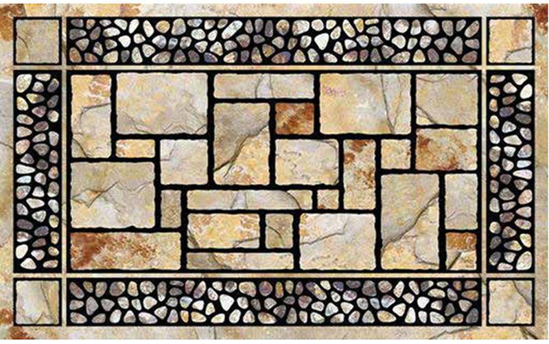 Коврик придверный Mohawk Камни Патио, 45 х 76 см4774Удивительно красивые натуральные дизайны, представлены в коллекции придверных ковриков MOHAWK, которые способны перенести Вас с порога вашего дома на мощеные улочки Италии, в сады с дорожками из природного камня или на рынок в испанской провинции. Коврики, кроме неповторимого дизайна, обладают отличными чистящими характеристиками, высокой устойчивостью к загрязнению, высокими водоотталкивающими и гразезащитными свойствами, долговечны, не крошатся и не выцветают. Настоящая находка для тех, кто любит стильные, функциональные и надежные вещи. Коврик может использоваться как перед дверью с уличной стороны, так и внутри помещения, так как основание из переработанной резины не имеет запаха и не пачкает поверхность пола. Материал рабочей поверхности: полиэстер с печатным рисунком высокой четкости. Чистить встряхиванием, возможна чистка пылесосом или под струей воды с применением щедящих моющх средств, сушить на воздухе.