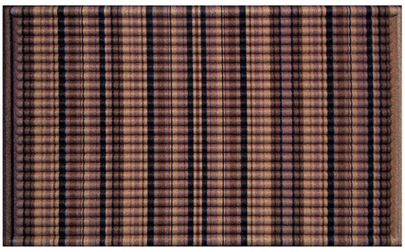 Коврик придверный Apache Mills Brown Stripes , 45 х 76 см5417Практичный и долговечный влаговпитывающий придверный коврик. Настоящая находка для тех, кто любит функциональные и надежные вещи. Коврик выполнен по уникальной технологии, которая позволяет достичь максимальную впитываемсть изделия до 4 литров воды на 1 кв.м. Материал рабочей поверхности: переработанное ковровое покрытие с ярким печатным рисунком высокой четкости, который не выцветает, не истирается и не линяет при попадании влаги. Обладает отличными грязезащитными и влаговпитывающими характеристиками, устойчив к появлению плесени. Отличный вариант для использования перед входной дверью в сезон дождей или зимой. Основание из резины не крошатся и не растрескивается со врменем.