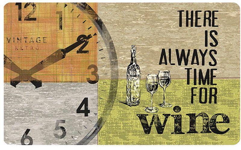 Коврик защитный Apache Mills There is Always Time for Wine, 45 х 75 см5421Эксклюзивная новинка на российском рынке - мягкий и комфортный коврик для кухни. Может использоваться на кухне перед плитой или мойкой, на летней открытой кухне перед жаровней или барбекю, на лоджии или веранде. Коврик не только защищает поверхность пола от загрязнейний в местах, которые наиболее подвержены им, но облегчает нагрзку на стопу благодаря материалу, из которого изготовлен - вспененный ПВХ, поэтому обладает преимуществами терапевтической пены: превосходной амортизацией, ударопоглащающей функцией, принимает форму стопы и моментально восстанавливает исходное состояние. Коврик обладает отличными влагоотталкивающими свойствами, устойчив к загрязнениям. Печатный рисунок обладает высокой честкостью и цветопередачей, не вымывается и не выцветает при длительном использовании. Такой коврик станет настоящей находкой для домохозяк, которые много времени проводят стоя у плиты, и тех, кто просто любит готовить. Допускается счищать пятна теплой водой с мылом, сушить в горизонтальном положении.