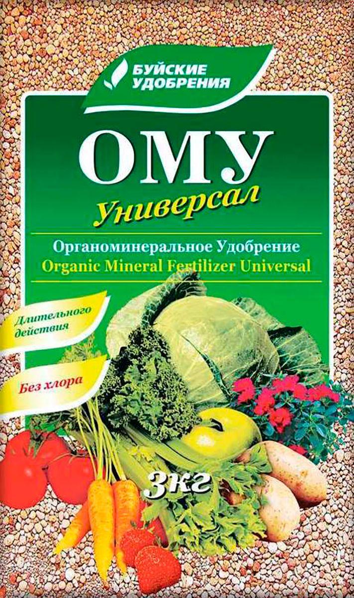Удобрение органоминеральное универсальное Буйские Удобрения Универсал, 3 кг1114204066Органо-минеральное удобрение «Универсал» используется для основного внесения под различные овощные, плодовые культуры в открытом и закрытом грунте на различных почвах, а также применяется при выращивании рассады и подкормках в фазу вегетации. Этот тук содержит азот — 7%, фосфор — 7%, калий —8%, магний — 1,5%, а также гуминовые соединения. Этот состав благоприятно влияет на рост и развитие растений и практически полностью (на 95%) полезные вещества из удобрения усваиваются растениями. Также улучшается ГМС почвы, она становится более водо- и воздухопроницаемой, повышается ее плодородность.