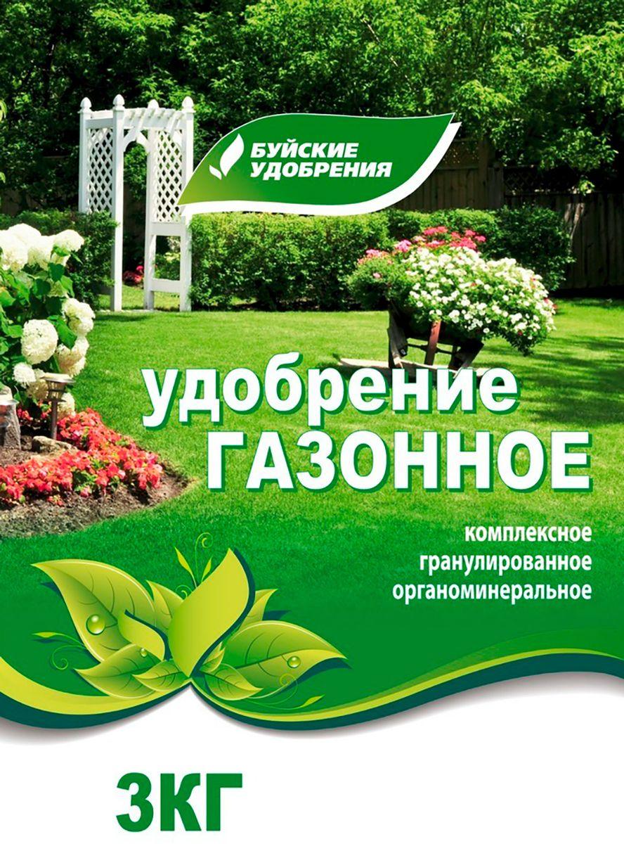 Удобрение органоминеральное универсальное Буйские Удобрения Газонное, 3 кг
