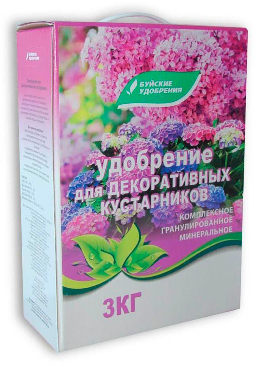Удобрение Буйские Удобрения Для декоративных кустарников, 3 кг46662Комплексное минеральное удобрение, разработанное для декоративных кустарников, может применяться также для плодовых кустарников. Стимулирует рост и развитие кустарников, обеспечивает продолжительное цветение и презентабельный внешний вид растений. В составе этого удобрения азот - 14%, фосфор - 6%, калий - 15%, магний - 3% и микроэлементы. Вносится в посадочную яму в момент посадки кустарника из расчета 100-150 г в каждую посадочную яму. Весной проводится корневая подкормка с дальнейшим поливом и рыхлением 15-20 г/ м2. Также нужно мульчировать почву. Подкормки удобрением Для декоративных кустарников нужно повторять на протяжении всей весны и лета. Вносить удобрение нужно только в сухом виде.