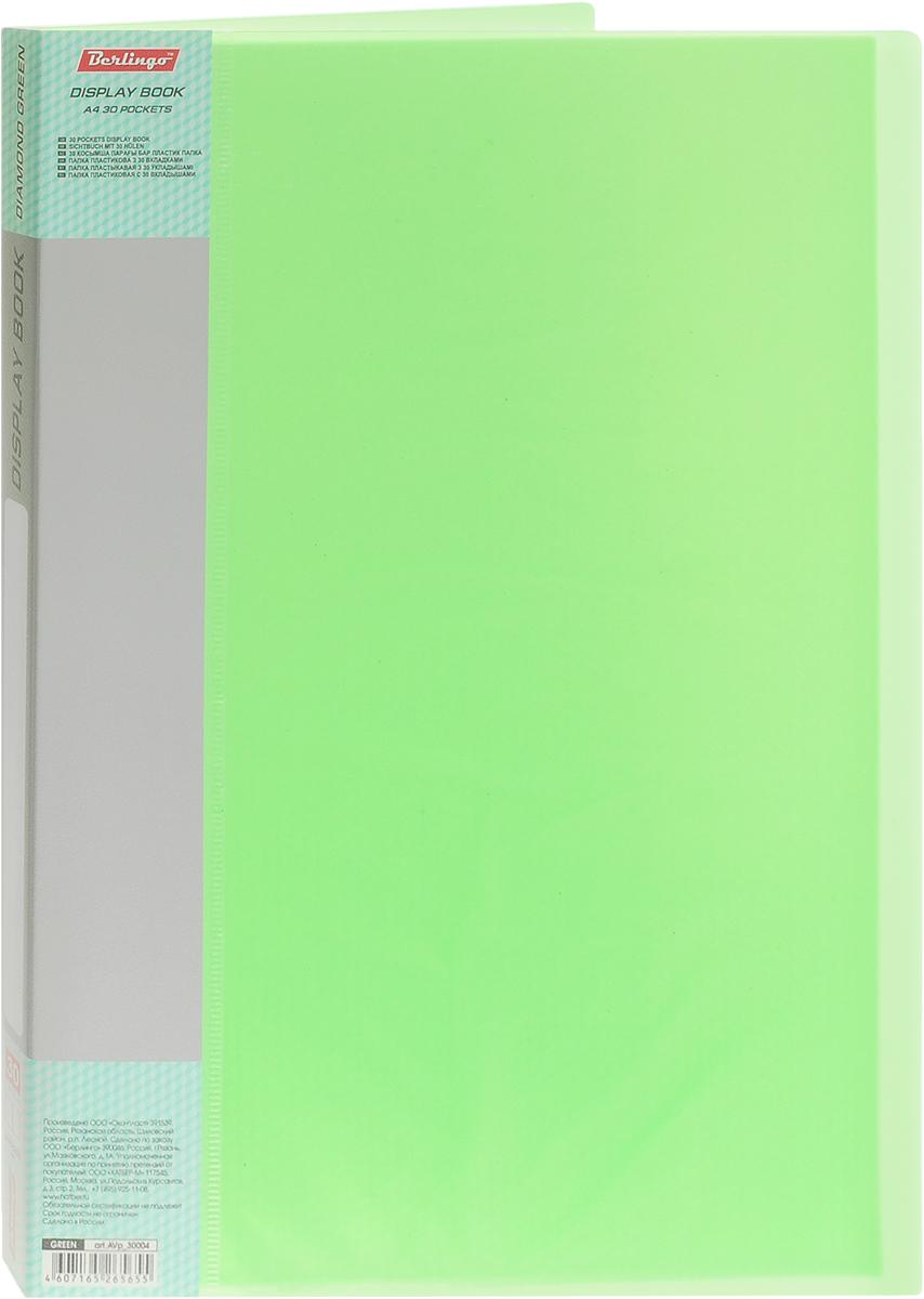 Berlingo Папка с файлами цвет салатовый43642Папка с файлами Berlingo - это удобный и многофункциональный инструмент, который идеально подойдет для хранения и транспортировки различных бумаг и документов формата А4.Папка изготовлена из прочного пластика и сшита. В папку включены 30 вкладышей.Папка практична в использовании и надежно сохранит ваши документы и сбережет их от повреждений, пыли и влаги.