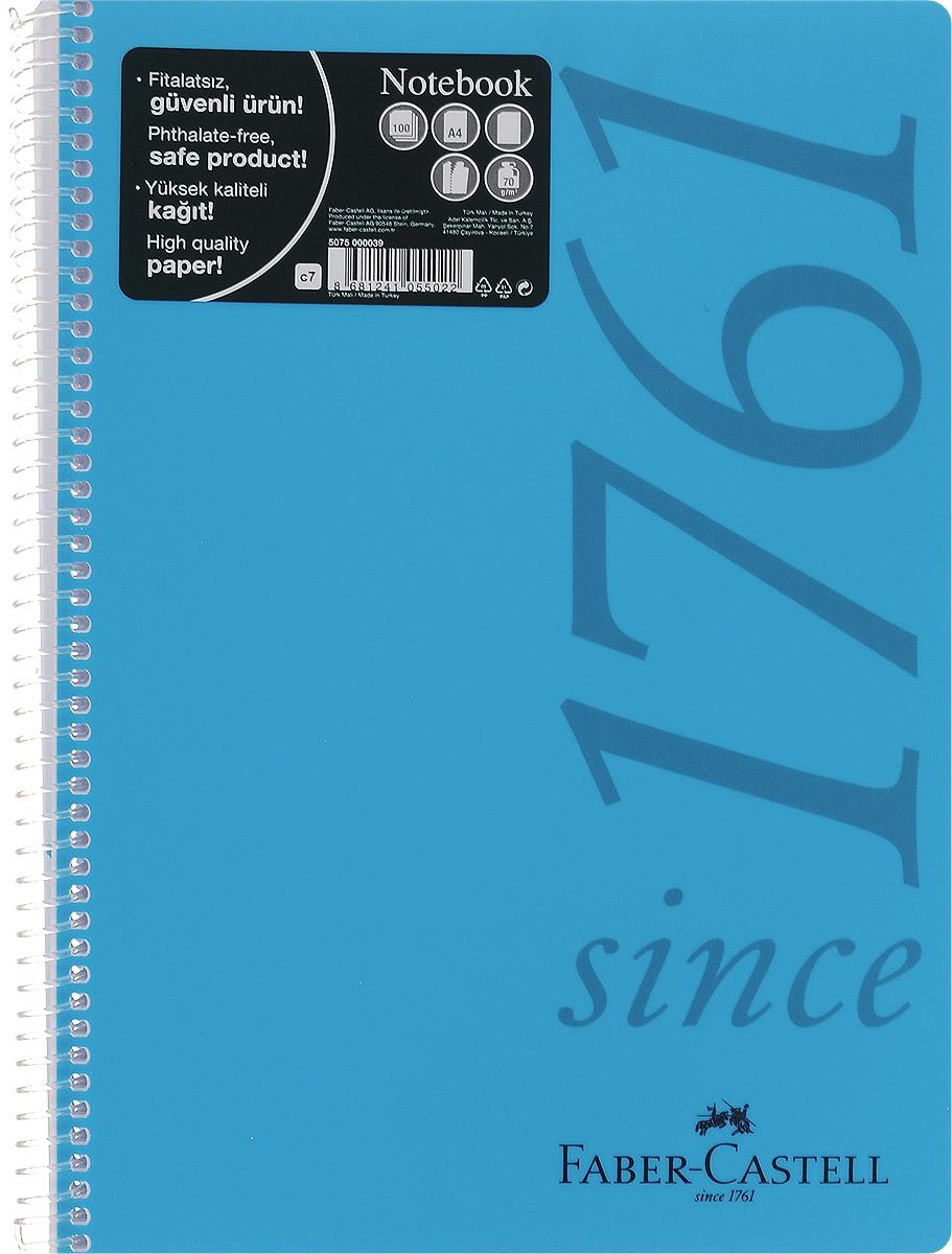 Faber-Castell Блокнот Since 1761 100 листов без разметки цвет голубой4037Оригинальный блокнот Faber-Castell Since 1761 в твердой пластиковой обложке подойдет для памятных записей, любимых стихов и многого другого.Блок состоит из 100 листов без разметки. Блокнот изготовлен со спиралью. Такой блокнот станет не только достойным аксессуаром среди ваших канцелярских принадлежностей, но и практичным подарком для в близких и друзей.