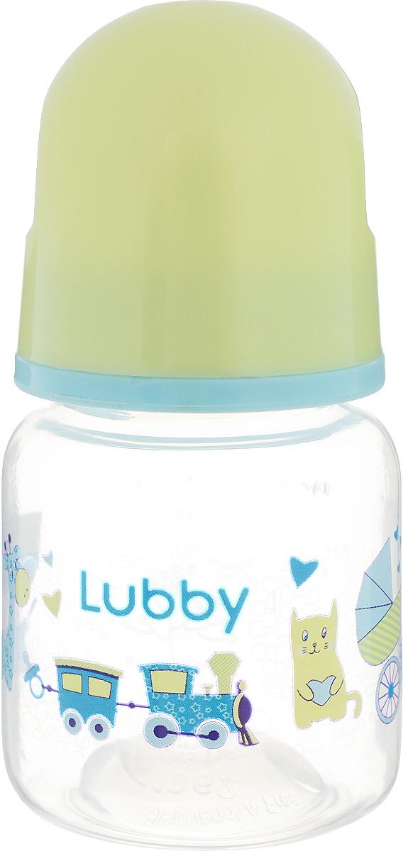 Lubby Бутылочка для кормления Малыши и малышки от 0 месяцев цвет зеленый 60 мл -  Бутылочки